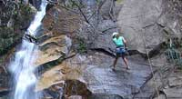 Rappel Down a Waterfall
